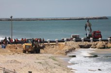 The EU-funded small-scale desalination plant near Deir Al Balah in the besieged Gaza Strip on 1 April 2021 [Mohammed Asad/Middle East Monitor]