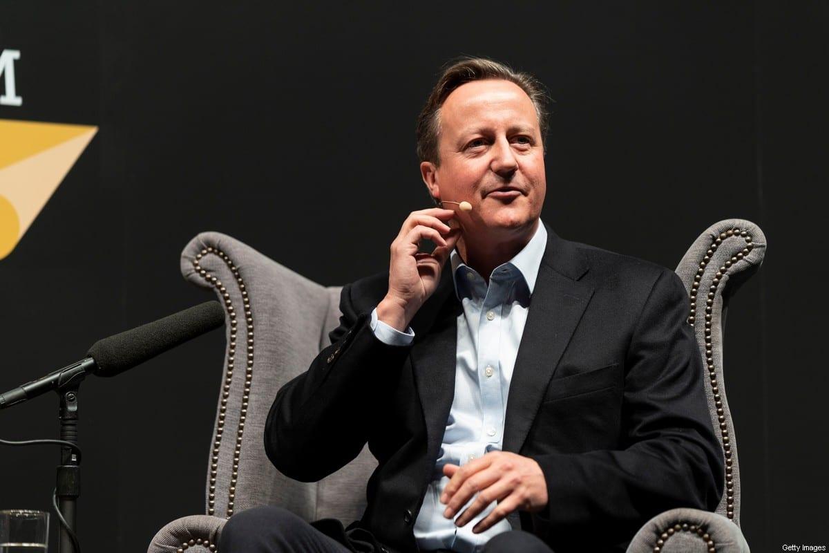 David Cameron, former UK Prime Minister, in Cheltenham, England on 5 October 2019 [David Levenson/Getty Images]
