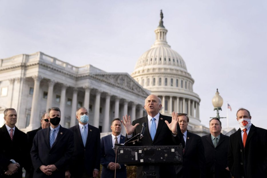 Representative Louie Gohmert, a Republican from Texas, speaks during a news conference with members of the Freedom Caucus outside the US Capitol in Washington, D.C., US, on Thursday, December 3, 2020 [Stefani Reynolds/Bloomberg via Getty Images]