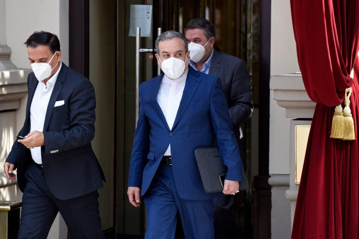 VIENNA, AUSTRIA - APRIL 27: Iranian deputy foreign minister Abbas Araghchi leaves the Grand Hotel on the day the JCPOA Iran nuclear talks are to resume on April 27, 2021 in Vienna, Austria. Representatives from the United States, Iran, the European Union and other participants from the original Joint Comprehensive Plan of Action (JCPOA) are meeting both directly and indirectly over possibly reviving the plan. The JCPOA was the European-led initiative by which Iran agreed not to pursue a nuclear weapon in exchange for concessions, though the United States, under the administration of former U.S. President Donald Trump, abandoned the deal and intensified sanctions against Iran. (Photo by Thomas Kronsteiner/Getty Images)