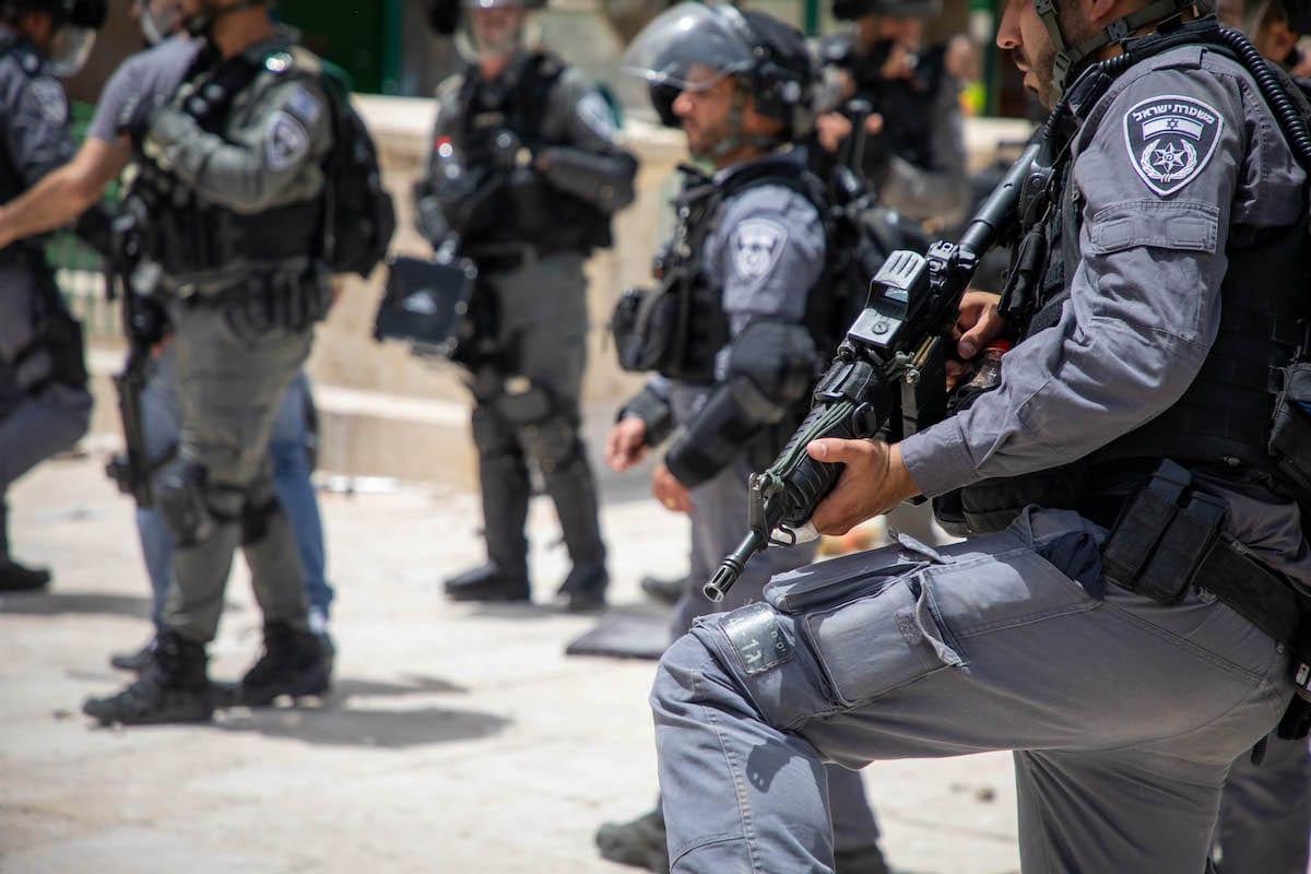 Israeli police in East Jerusalem on May 10, 2021. [Eyad Tawil - Anadolu Agency]