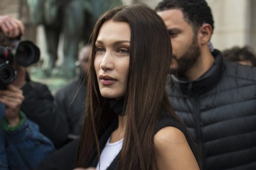 Model Bella Hadid on 29 February 2020 in Paris, France. Kirstin Sinclair/Getty Images]