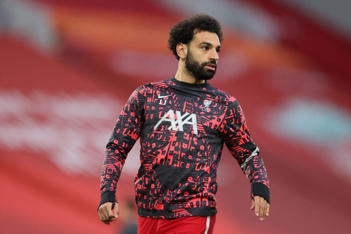 Mohamed Salah of Liverpool warms up prior to the Premier League match between Liverpool and Southampton at Anfield on May 08, 2021 in Liverpool, England [Alex Pantling/Getty Images]