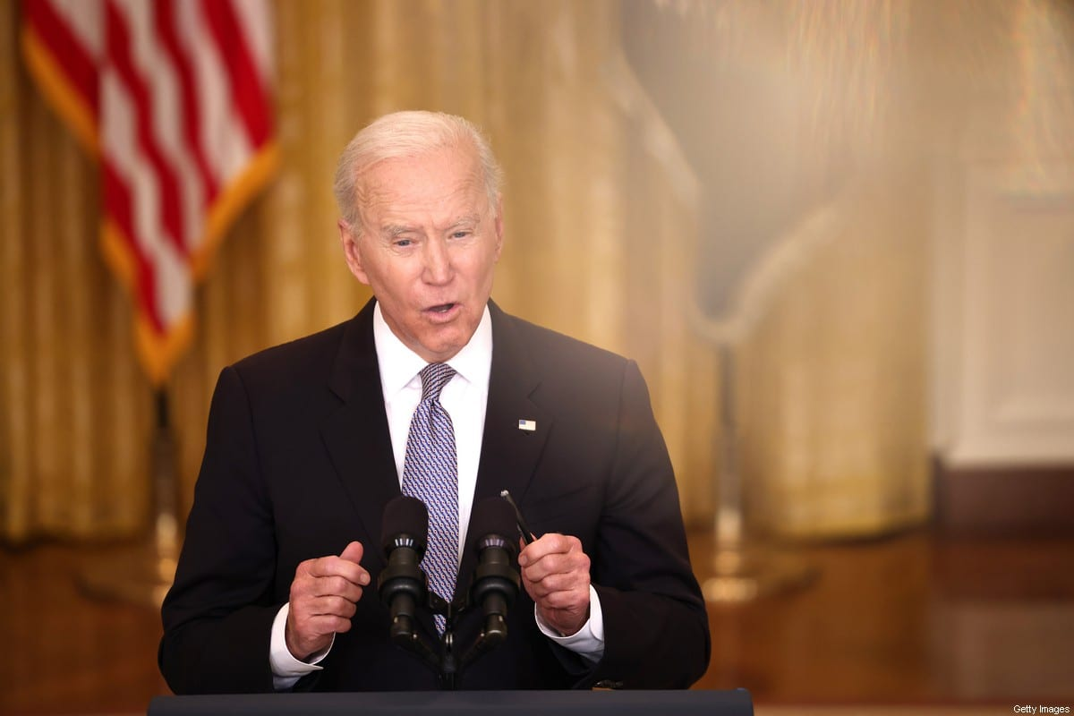 WASHINGTON, DC - MAY 17: U.S. President Joe Biden gives an update on his administration's COVID-19 response and vaccination program in the East Room of the White House on May 17, 2021 in Washington, DC. Biden announced that the U.S. will send 20 million doses of Pfizer, Moderna and Johnson & Johnson COVID-19 vaccines abroad on top of the 60 million AstraZeneca doses already planned for export. (Photo by Anna Moneymaker/Getty Images)