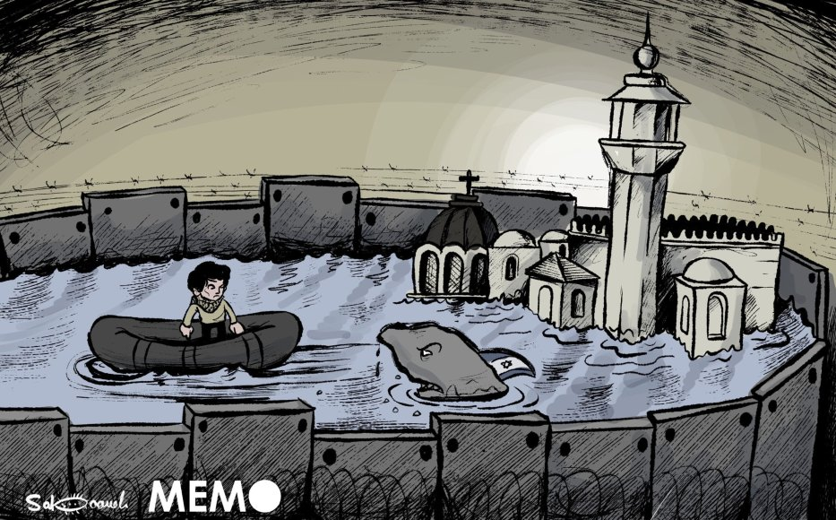 Israel preventing Palestinians from returning to their homes in Jerusalem - Cartoon [Sabaaneh/MiddleEastMonitor]