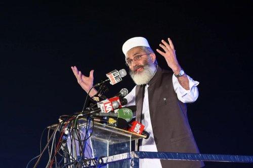 Chief of Pakistan's Jamaat-e-Islami Sirajul Haq in Lahore, Pakistan on 13 May 2018 [ARIF ALI/AFP/Getty Images]
