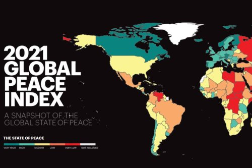 2021Global Peace Index's Societal Safety and Security measures.