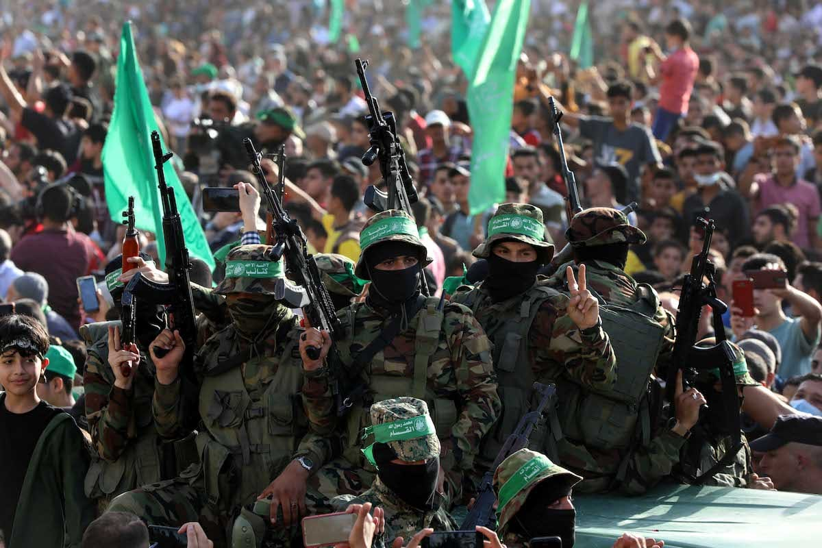 Parade of the Ezzeddin al-Qassam Brigades in Gaza City, Gaza on May 30, 2021. [Ashraf Amra - Anadolu Agency]
