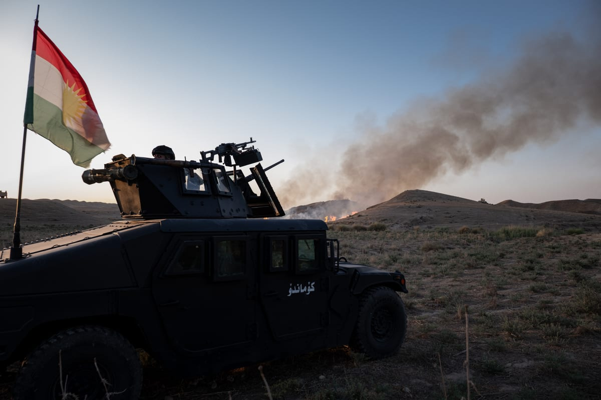 SULEYMANIYAH, IRAQ- JUNE 6: Iraqi army and Peshmerga forces conduct and operation against the members of Daesh, detected in the rural area of Kifri, Germiyani and Zimane districts of Sulaymaniyah, Iraq on June 6, 2021. Eight members of Daesh terror group were killed in an anti-terror operation in the Iraqi city of Sulaymaniyah. ( Muhammet Jalal - Anadolu Agency )