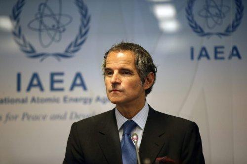 Director general of the International Atomic Energy Agency (IAEA), Rafael Mariano Grossi speaks during a press conference in Vienna, Austria on June 07, 2021 [Aşkın Kıyağan / Anadolu Agency]