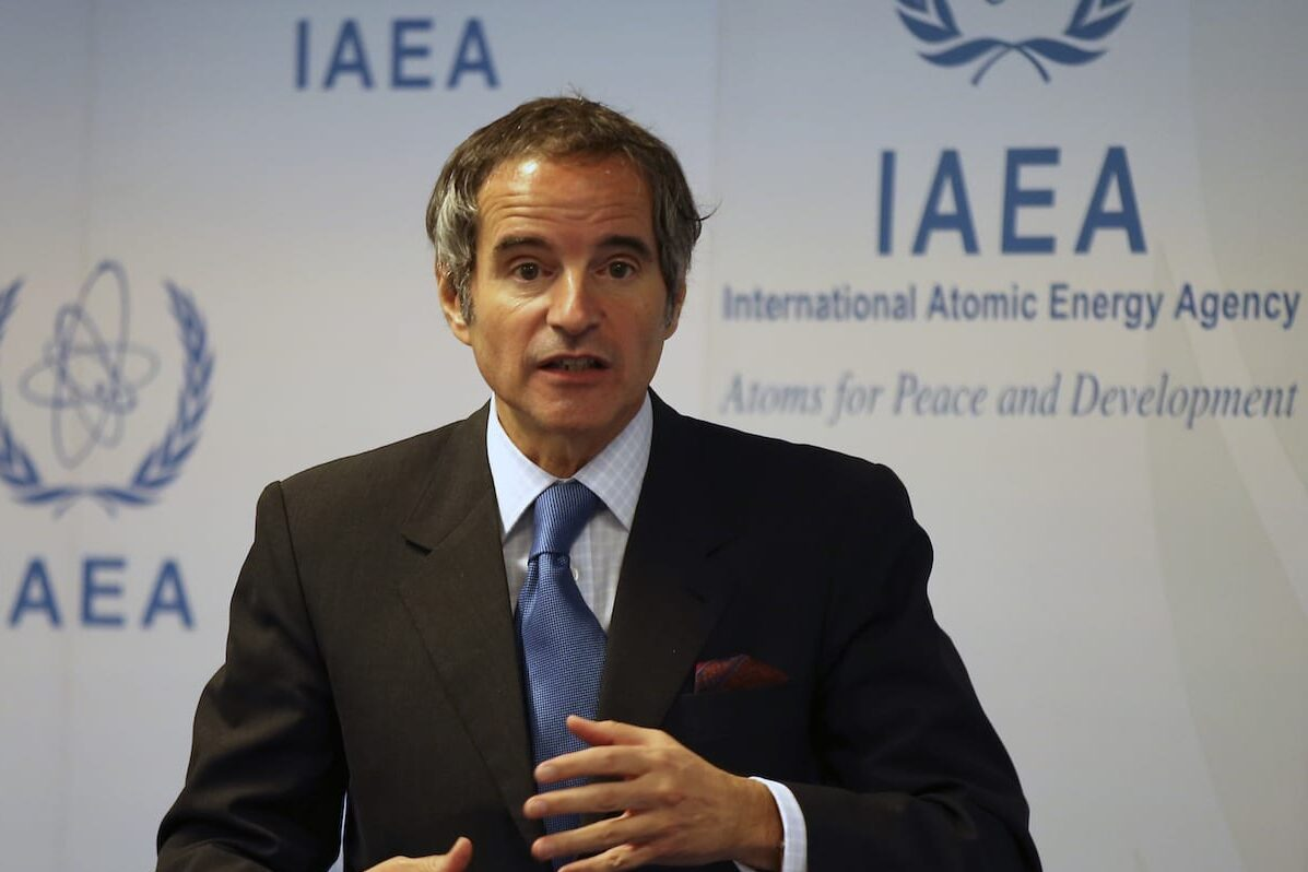 VIENNA, AUSTRIA - JUNE 07: Director general of the International Atomic Energy Agency (IAEA), Rafael Mariano Grossi speaks during a press conference after IAEA Board of Governors Meeting at the Vienna International Center in Vienna, Austria on June 07, 2021. ( Aşkın Kıyağan - Anadolu Agency )