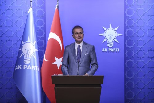 Justice and Development (AK) Party's Spokesman, Omer Celik holds a press conference as AK Party Central Decision and Executive Board (MYK) meeting continues in Ankara, Turkey on June 07, 2021 [Esra Hacioğlu/Anadolu Agency]