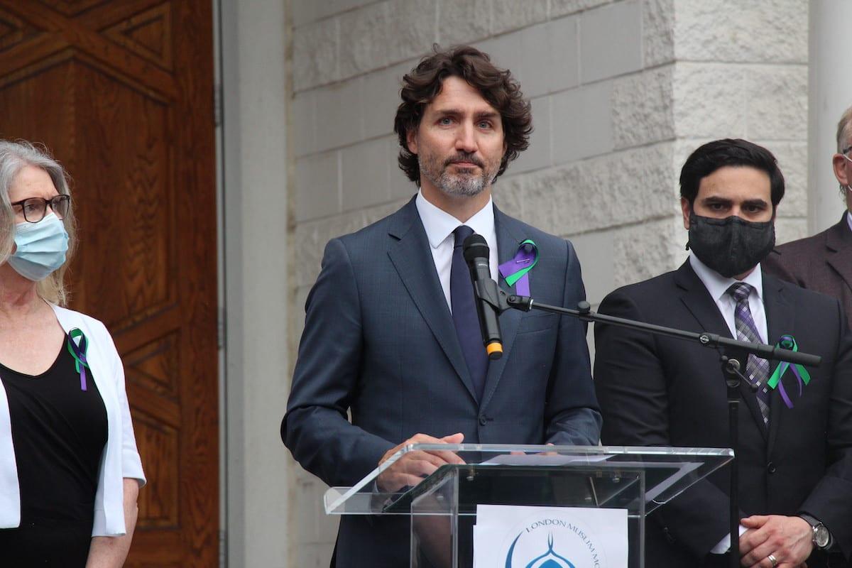 Prime Minister of Canada, Justin Trudeau in Ontario, Canada on 8 June 2021 [Seyit Aydoğan/Anadolu Agency]