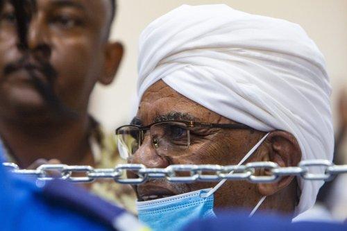 A general view of the trial of Sudanese former President Omar al-Bashir over the 1989 coup in Khartoum, Sudan on June 15, 2021 [Mahmoud Hjaj/Anadolu Agency]