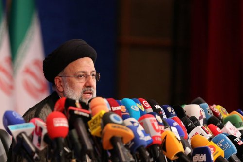Iran's new President Ebrahim Raisi speaks during his first press conference since election win in Tehran, Iran on June 21, 2021 [Fatemeh Bahrami / Anadolu Agency]