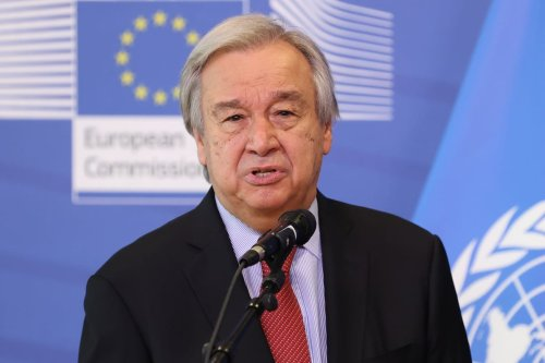 Secretary General of United Nations Antonio Guterres in Brussels, Belgium on 23 June 2021 [Dursun Aydemir/Anadolu Agency]