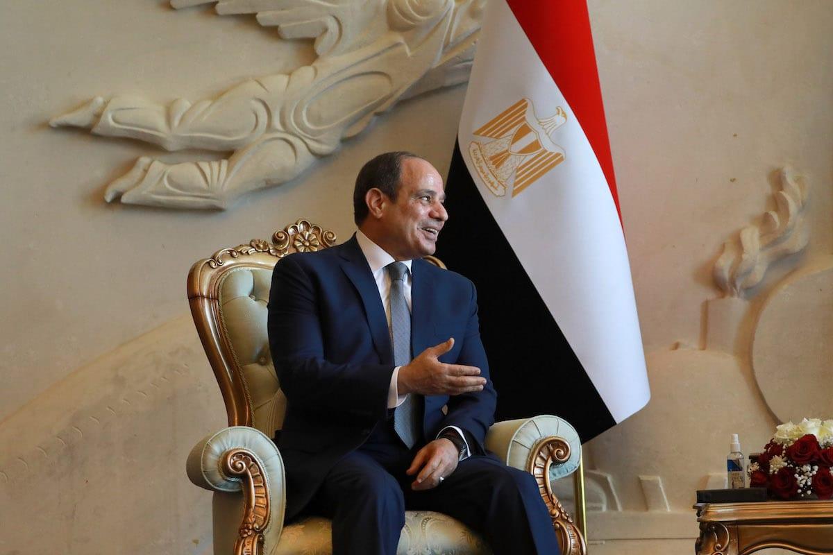 Egyptian President Abdel Fattah el-Sisi in Baghdad, Iraq on June 27, 2021. [Murtadha Al-Sudani - Anadolu Agency]