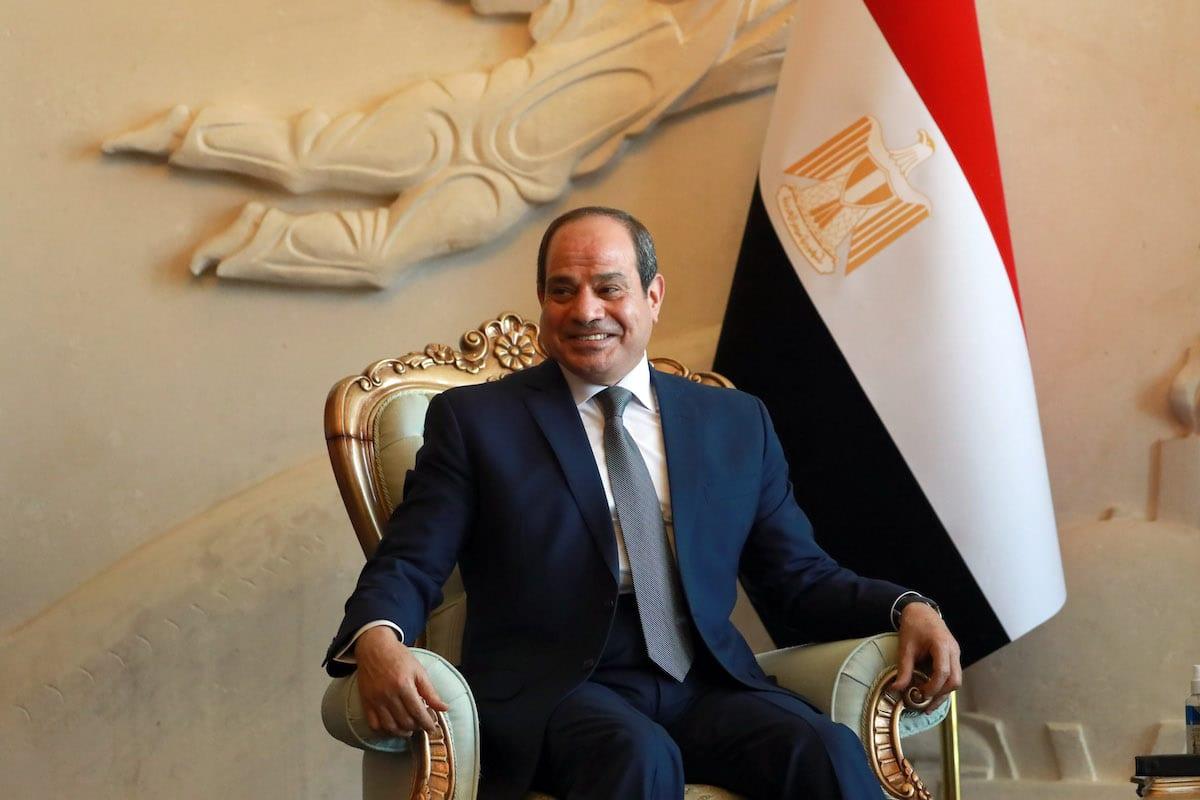 Egyptian President Abdel Fattah Al-Sisi in Baghdad, Iraq on 27 June 2021 [Murtadha Al-Sudani/Anadolu Agency]
