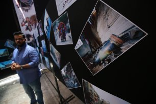 Photo exhibit displays Israel's crimes against Gaza [Mohammed Asad/Middle East Monitor]