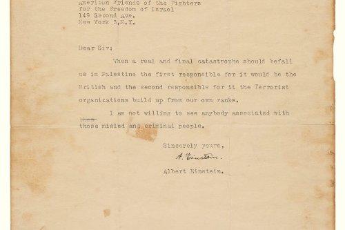 Einstein's letter