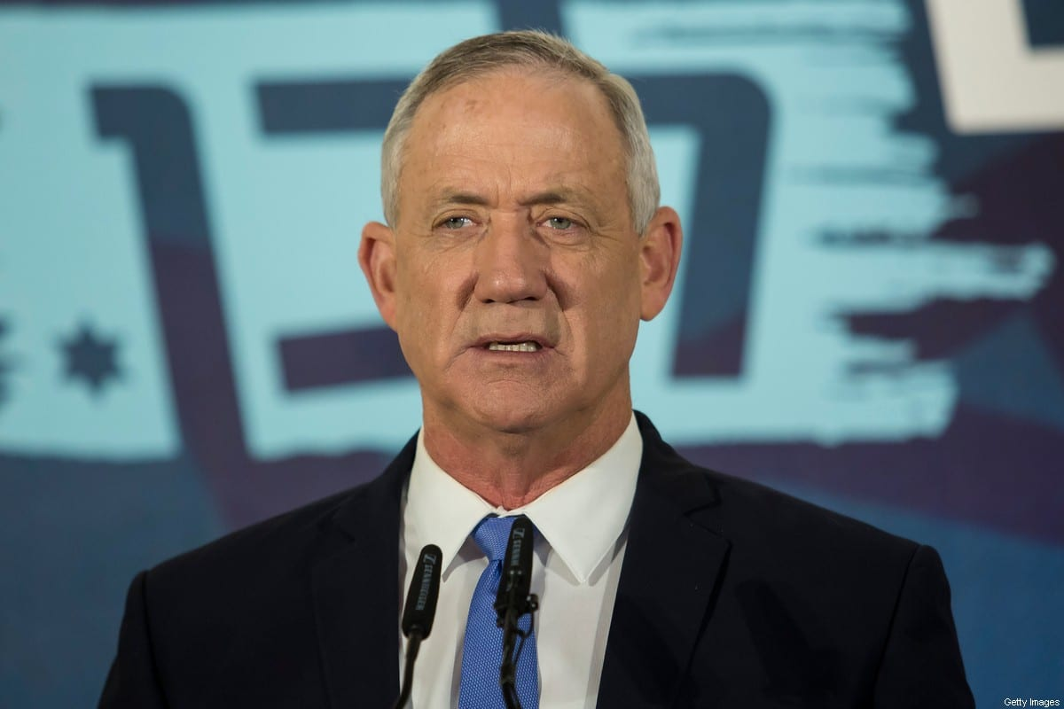 Benny Gantz, Blue and White party leader attends a press conference after failing to form a goverment on November 20, 2019 in Tel Aviv, Israel. [Amir Levy/Getty Images]