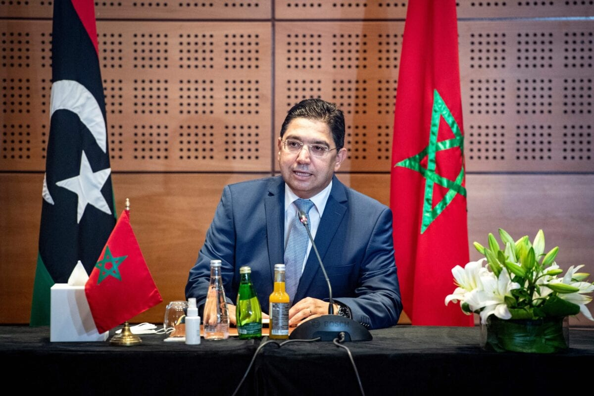 Nasser Bourita, Morocco's Minister of Foreign Affairs in the coastal town of Bouznika, south of Rabat, on September 6, 2020 [FADEL SENNA/AFP via Getty Images]