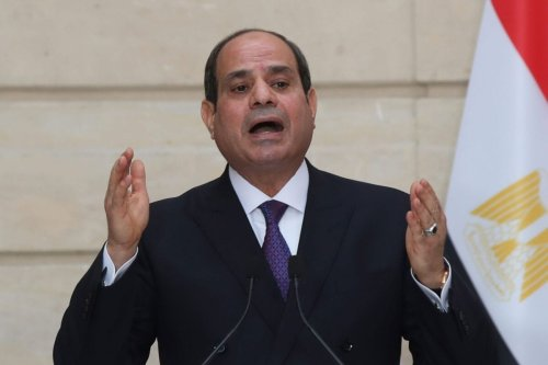 Egyptian President Abdel Fattah al-Sisi speaks during a press conference on December 7, 2020 [MICHEL EULER/POOL/AFP via Getty Images]