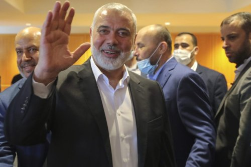 Ismail Haniya arrives at Beirut-Rafic Hariri International Airport on June 27, 2021 in Beirut, Lebanon [Ali Allouch ATPImages/Getty Images]
