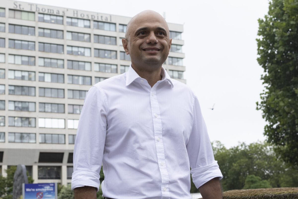 Newly appointed Health secretary Sajid Javid leaves St Thomas' Hospital after a visit on June 28, 2021 in London, England [Dan Kitwood/Getty Images]