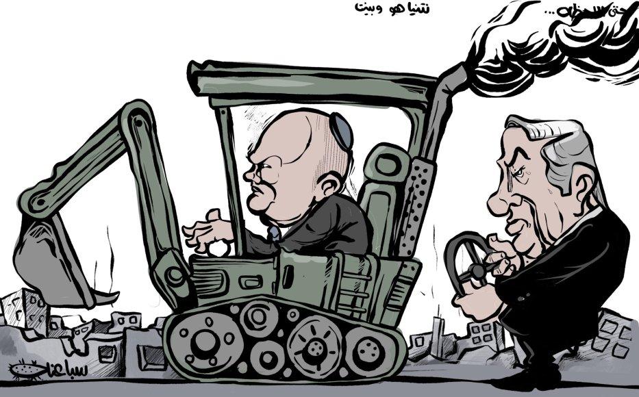 Naftali Bennett is already carrying on Netanyahu's legacy - Cartoon [Sabaaneh/MiddleEastMonitor]