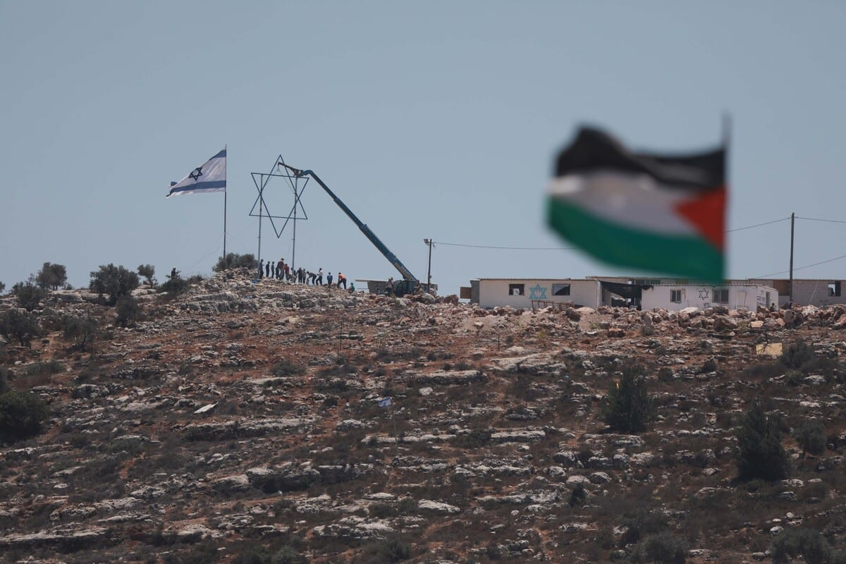 Palestinians protest against Jewish settlements in Beita district of Nablus, West Bank on July 02, 2021. [İssam Rimawi - Anadolu Agency]