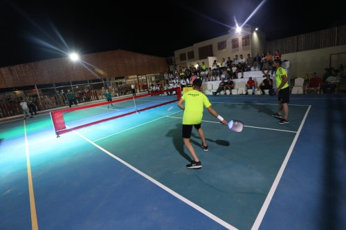 First Teqball and Pickleball Academy in Gaza, Palestine on July 2021 [Mohammed Asad/Middle East Monitor]