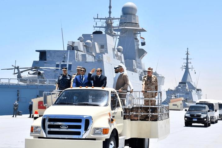 Egyptian President Abdel Fattah El-Sisi inaugurated Egypt's latest naval base, on 3 July 2021, in Gargoub on the northwestern coast near Libya [@egyptfwd/Twitter]