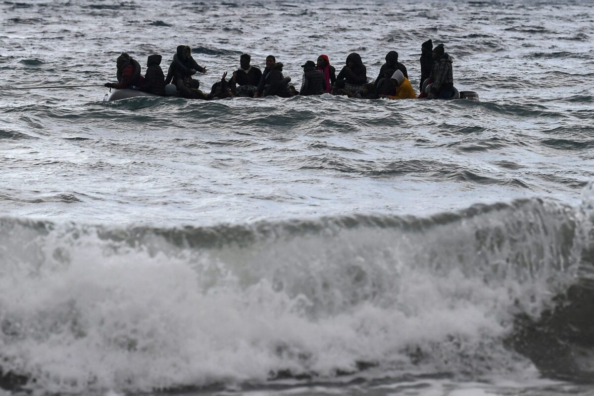 A dinghy transporting 27 refugee on February 29, 2020 [ARIS MESSINIS/AFP via Getty Images]