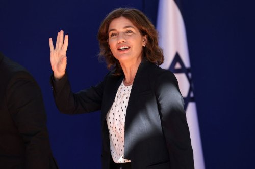 Israeli Environmental Protection Minister Tamar Zandberg arrives for a photo at the President's residence during a ceremony for the new coalition government in Jerusalem, on June 14, 2021. [EMMANUEL DUNAND/AFP via Getty Images]