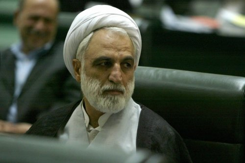 Gholamhossein Mohseni-Ejei at the Iranian parliament, 21 August 2005 [ATTA KENARE/AFP/Getty Images]