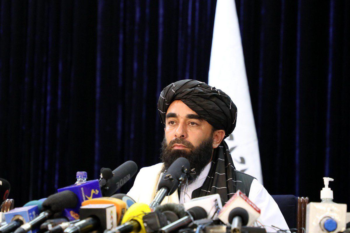 Taliban spokesperson Zabihullah Mujahid in Kabul, Afghanistan on 17 August 2021 [Sayed Khodaiberdi Sadat/Anadolu Agency]