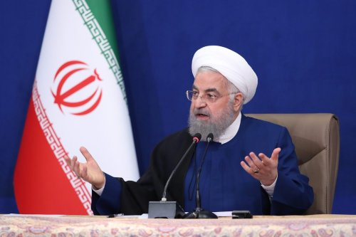 Iranian President Hassan Rouhani speaks after the last cabinet meeting of the 12th government of Iran in Tehran, Iran on August 01, 2021 [Iranian Presidency/Anadolu Agency]