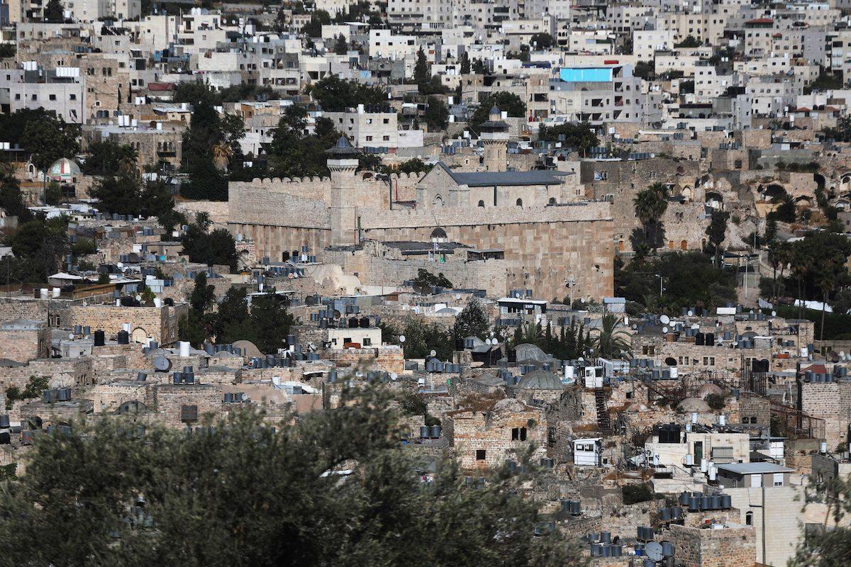 A view of the Ibrahimi Mosquein Hebron, West Bank on August 10, 2021 [Mamoun Wazwaz/Anadolu Agency]