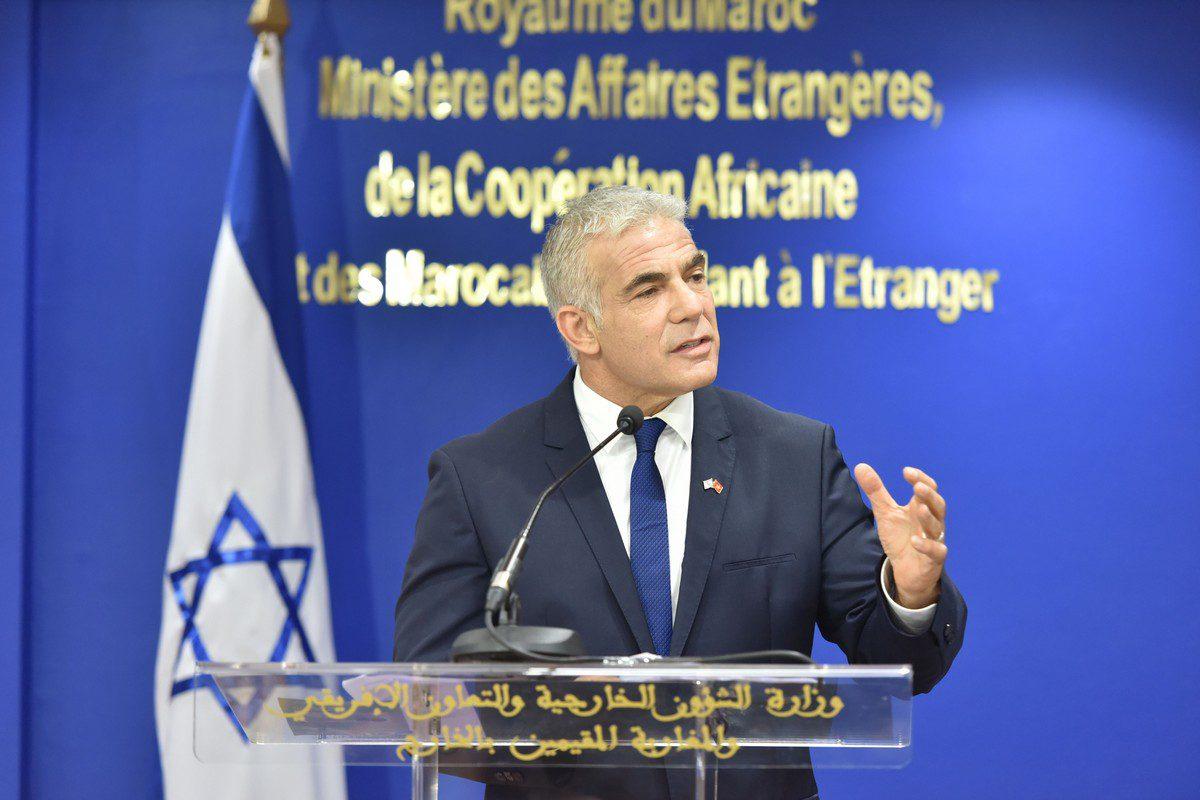 Israeli Foreign Minister Yair Lapid on August 11, 2021 [Jalal Morchidi/Anadolu Agency ]