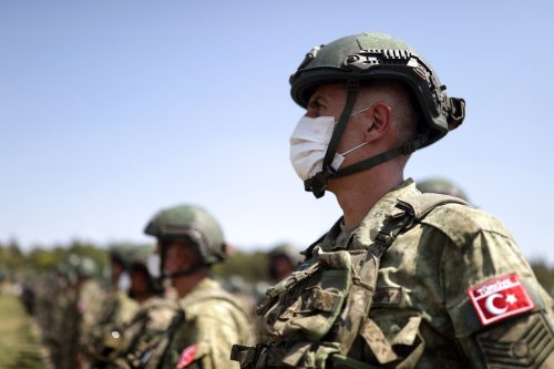 Turkish soldiers in Ankara, Turkey on 28 August 2021 [Arif Akdoğan/Anadolu Agency]