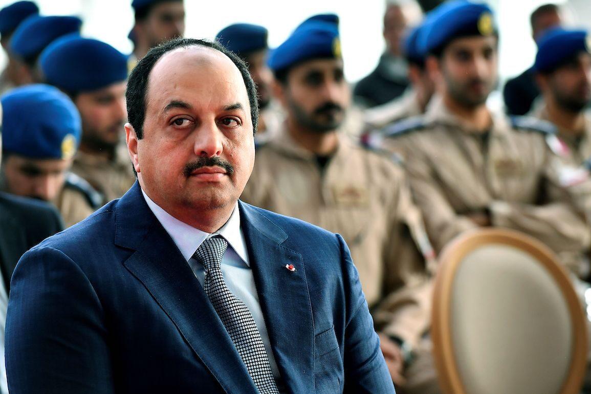 Qatar Defence Minister Khalid bin Mohamed Al-Attiyah on February 6, 2019, in Merignac, southwestern France. [GEORGES GOBET/AFP via Getty Images]