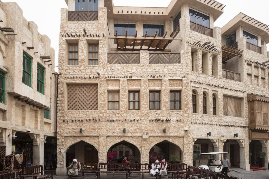 A general view of the Souq Waqif in Doha, a traditional market in traditional Qatari architectural style in the a host venue for the Qatar 2022 FIFA World Cup on 1 April 2019 in Doha, Qatar. [Mathew Ashton - AMA - AMA/Getty Images]