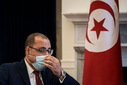 Tunisian Prime Minister Hichem Mechichi in Lisbon on May 11, 2021. [PATRICIA DE MELO MOREIRA/AFP via Getty Images]