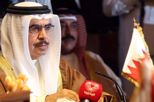 Bahraini Interior Minister Rashed bin Abdullah bin Ahmad Al Khalifa attends the 33rd meeting for the Gulf Cooperation Council (GCC) interior ministers at Bayan Palace in Kuwait city on 26 November 2014. [YASSER AL-ZAYYAT/AFP via Getty Images]
