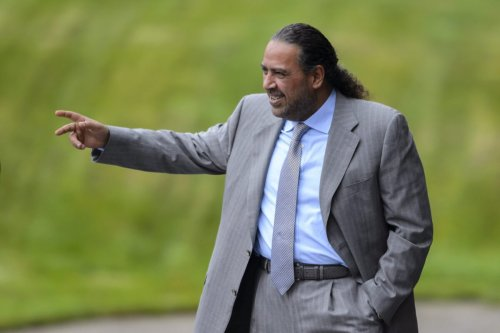 Kuwaiti FIFA executive member Sheikh Ahmad al-Fahd al-Sabah gestures outside the FIFA headquarters in Zurich on October 20, 2015 [FABRICE COFFRINI/AFP via Getty Images]