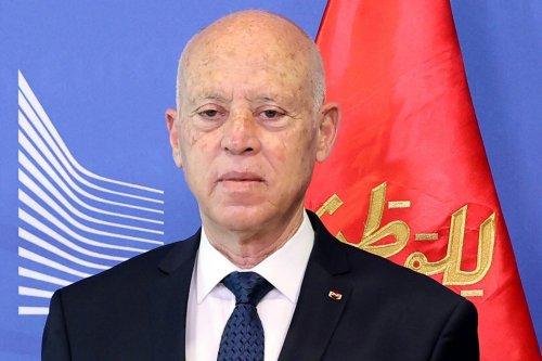 Kais Saied, Tunisia's president in Brussels, Belgium on 4 June 2021 [Dursun Aydemir/Anadolu/Bloomberg/Getty Images]