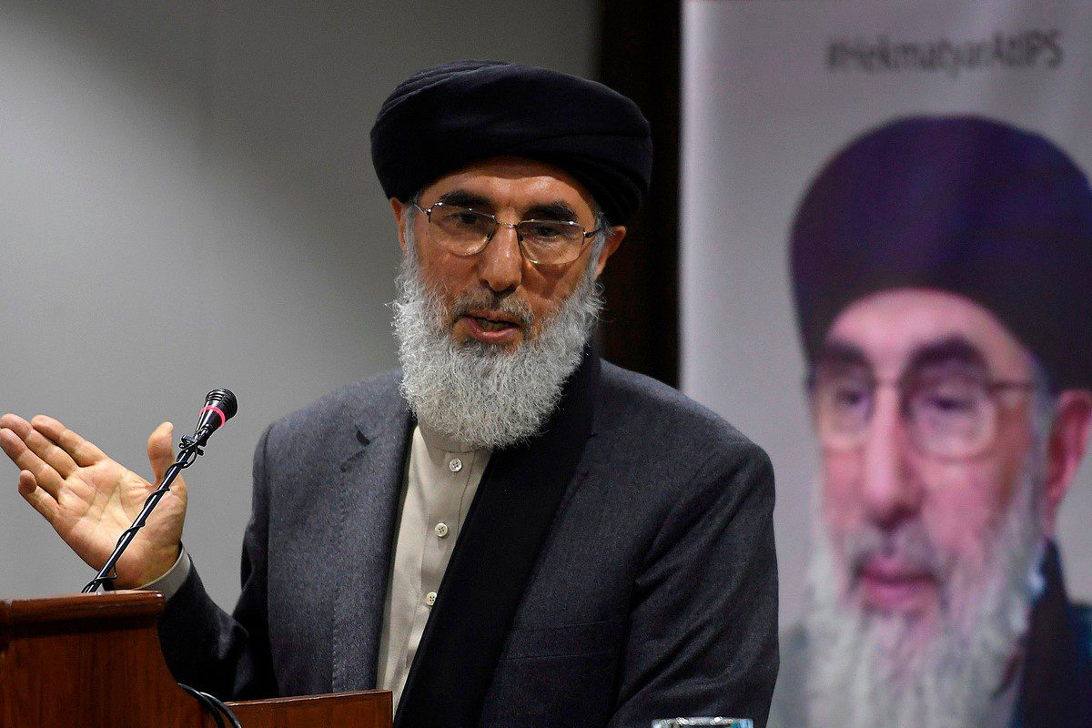 Former Afghan prime minister and leader of the Afghan Islamic Party, Gulbuddin Hekmatyar, in Islamabad, Pakistan on 21 October 2020 [AAMIR QURESHI/AFP/Getty Images]