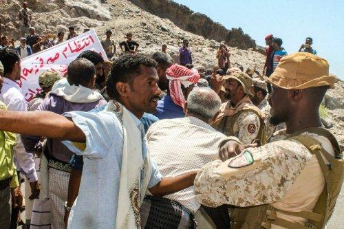 Protest in Aden, Yemen on 16 March 2021 [SALEH AL-OBEIDI/AFP/Getty Images]
