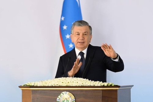 "TASHKENT, UZBEKISTAN - AUGUST 27: (----EDITORIAL USE ONLY MANDATORY CREDIT - ""UZBEKISTANI PRESIDENCY / HANDOUT"" - NO MARKETING NO ADVERTISING CAMPAIGNS - DISTRIBUTED AS A SERVICE TO CLIENTS----) President of Uzbekistan, Shavkat Mirziyoyev holds a press conference in Tashkent, Uzbekistan on August 27, 2021. ( UZBEKISTANI PRESIDENCY - Anadolu Agency )"
